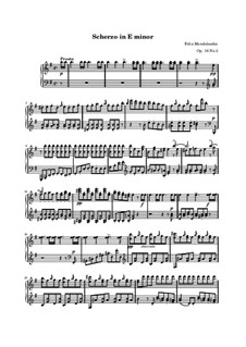 Three Fantasias or Caprices, Op.16: No.2 in E Minor by Felix Mendelssohn-Bartholdy