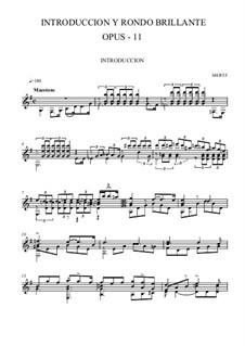 Introduction and Rondo Brilliant, Op.11: For guitar (high quality sheet music) by Johann Kaspar Mertz