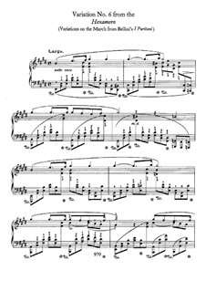 Variation No.6 in E Major from Hexameron, B.113 S.2/2: For piano by Frédéric Chopin