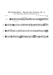 March of the Priests: Viola part by Wolfgang Amadeus Mozart