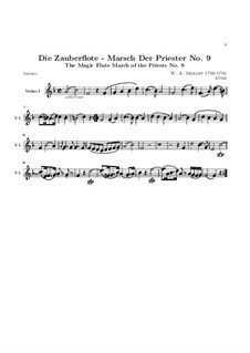 March of the Priests: Violin I part by Wolfgang Amadeus Mozart