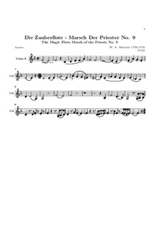 March of the Priests: Violin II part by Wolfgang Amadeus Mozart