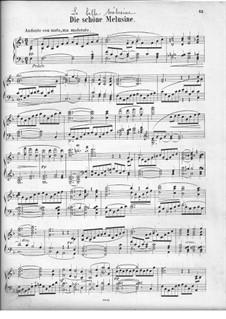 The Fair Melusina, Op.32: Overture, for piano by Felix Mendelssohn-Bartholdy