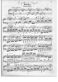 Die Hebriden oder Die Fingalshöhle (Hebrides Overture), Op.26: Piano score by Felix Mendelssohn-Bartholdy