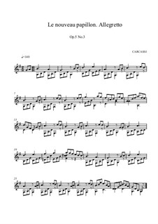 The New Butterfly, Op.5: No.3 in G Major by Matteo Carcassi