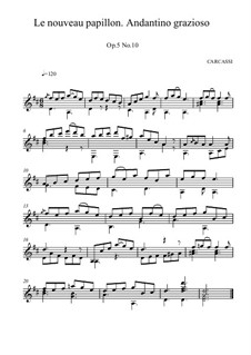The New Butterfly, Op.5: No.10 in D Major by Matteo Carcassi