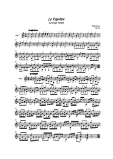 Le Papillon, Op.50: For guitar (high quality sheet music) by Mauro Giuliani