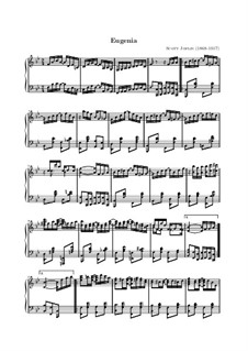 Eugenia: For piano by Scott Joplin