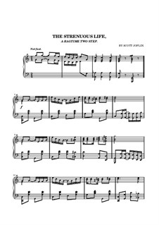 The Strenuous Life: For piano (high quality sheet music) by Scott Joplin