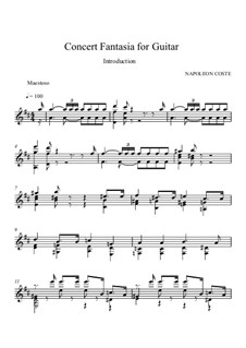 Fantaisie de concert, Op.6: For guitar (high quality sheet music) by Napoléon Coste