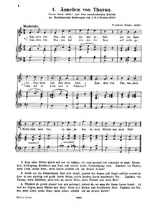An die Treulose: Piano-vocal score by Friedrich Silcher