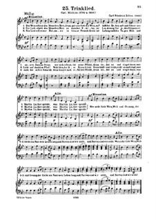 Trinklied: Trinklied by Carl Friedrich Zelter