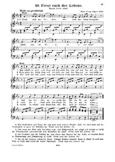 Freut euch des Lebens: For voice and piano by Hans Georg Nägeli