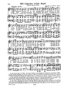 Leyer und Schwer, Op.42: No.2 Lutzow's Wild Hunt, for voices and piano, J.168 by Carl Maria von Weber