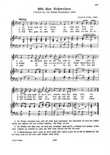 Der Schweizer: Piano-vocal score by Friedrich Silcher