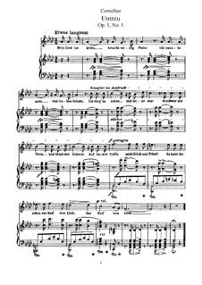 Six Songs, Op.1: All Songs by Peter Cornelius