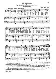 Der Tiroler Wastel. Tyroler: Für Stimme und Klavier by Jakob Haibel