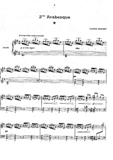 Two Arabesque, L.66: Arabesque No.2 by Claude Debussy
