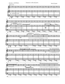 Sonata for Violin and Piano: Sonata for Violin and Piano by Neria Cepaite