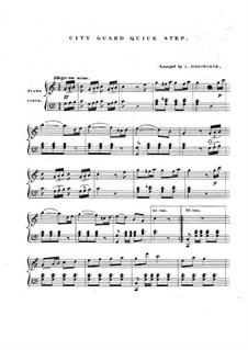 City Guard Quick Step: For piano by Unknown (works before 1850)