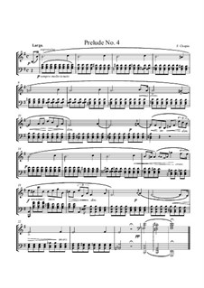 No.4 in E Minor: For piano (high quality sheet music) by Frédéric Chopin