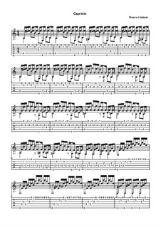 Twenty-Four Etudes for Guitar, Op.100: Etude No.11 Capriccio – tablature by Mauro Giuliani
