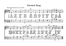 Farewell Song: Farewell Song by Unknown (works before 1850)