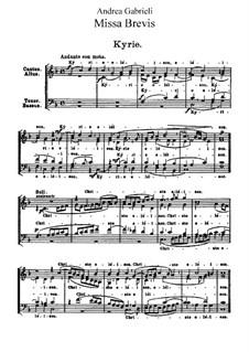 Missa brevis: Missa brevis by Andrea Gabrieli
