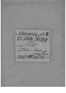 Trio Sonata for Two Flutes and Basso Continuo, GraunWV C:XV:82: Trio Sonata for Two Flutes and Basso Continuo by Johann Gottlieb Graun