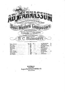 Brilliant Waltz, Op.21: Brilliant Waltz by Benjamin Coleman Blodgett