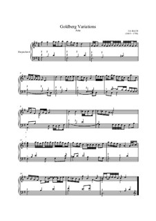 Goldberg Variations, BWV 988: Aria for harpsichord by Johann Sebastian Bach