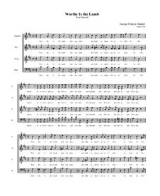 No.53 Worthy is the Lamb: Vocal score by Georg Friedrich Händel