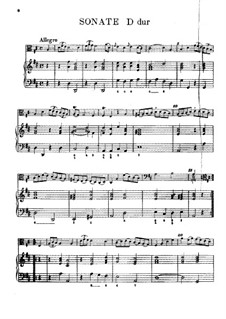 Sonata in D Major for Viola da Gamba and Basso Continuo: Score for two performers by Carl Friedrich Abel