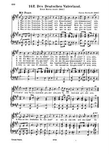 Des Deutschen Vaterland: Des Deutschen Vaterland, für Stimme und Klavier by Gustav Reichardt