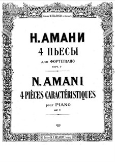 Four Pieces, Op.7: Complete set by Nikolay Amani