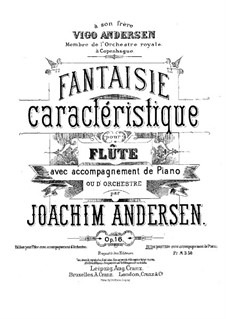 Fantasia, Op.16: Score, solo part by Joachim Andersen