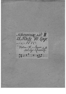 Trio Sonata for Violin, Oboe and Basso Continuo, QV 2:Anh.20: Trio Sonata for Violin, Oboe and Basso Continuo by Johann Joachim Quantz