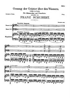 Gesang der geister über den Wassern (The Song of the Spirit Over the Waters), D.705: Gesang der geister über den Wassern (The Song of the Spirit Over the Waters) by Franz Schubert