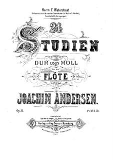 Twenty-Four Studies for Flute, Op.21: Twenty-Four Studies for Flute by Joachim Andersen