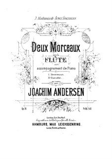 Two Pieces for Flute and Piano, Op.28: Two Pieces for Flute and Piano by Joachim Andersen