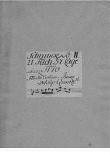 Trio Sonata for Flute, Violin and Basso Continuo, QV 2:Anh.9: Trio Sonata for Flute, Violin and Basso Continuo by Johann Joachim Quantz