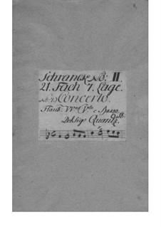 Concerto for Flute and Orchestra No.103, QV 5:139: Concerto for Flute and Orchestra No.103 by Johann Joachim Quantz