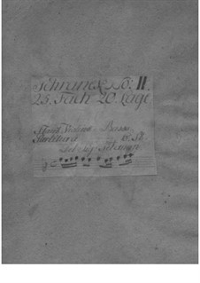 Trio Sonata for Violin, Flute (or Violin II) and Basso Continuo in D Minor, TWV 42:d2: Parts by Georg Philipp Telemann