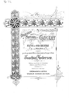 Concert Piece No.2 for Flute and Orchestra (or Piano), Op.61: Version for flute and piano by Joachim Andersen