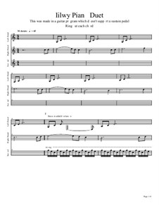 Iilwy Piano Duet: Iilwy Piano Duet by Rob Scallon