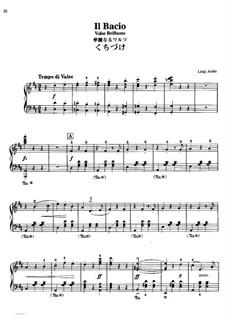 Il bacio (The Kiss): For piano by Luigi Arditi