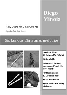 Six Christmas Easy Duets for C Instruments: Six Christmas Easy Duets for C Instruments by folklore