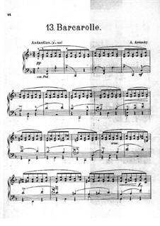 Barcarolle: Barcarolle by Anton Arensky