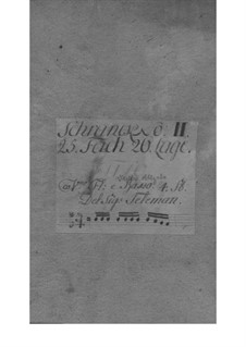 Quartet for Flute, Violin, Cello and Basso Continuo in E Minor, TWV 43:e1: Quartet for Flute, Violin, Cello and Basso Continuo in E Minor by Georg Philipp Telemann
