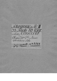 Concerto for Violin and Orchestra in F Major, TWV 54:F1: Full score by Georg Philipp Telemann